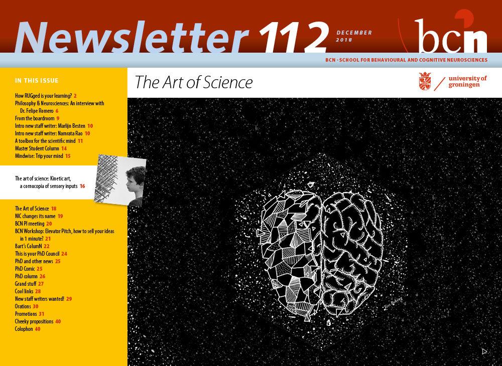 cover design newsletter bcn