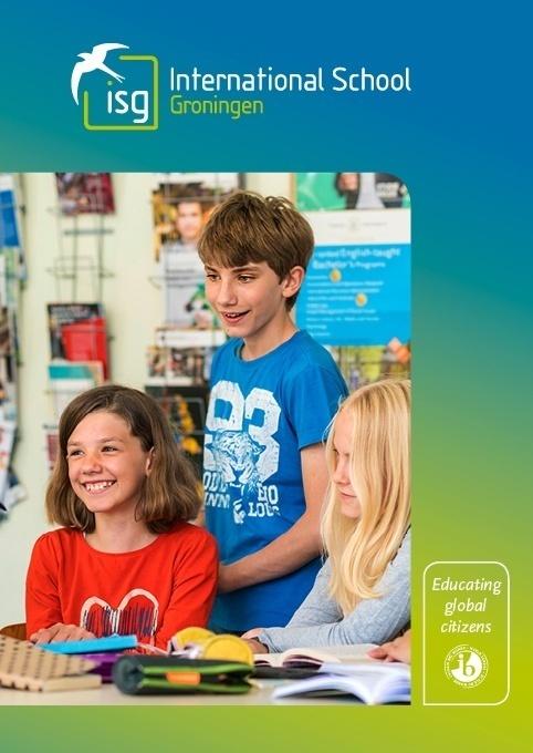 omslag ontwerp school brochure ISG