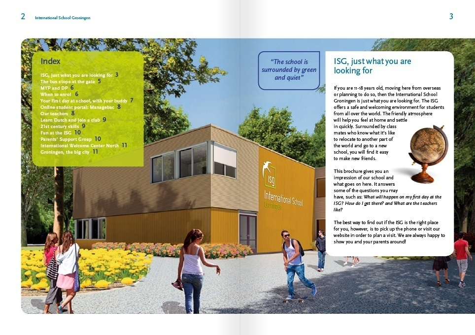 layout pagina school brochure ISG