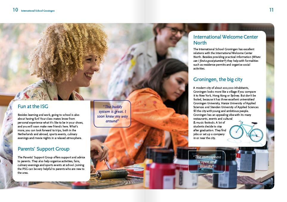 page layout schoolbrochure ISG 3