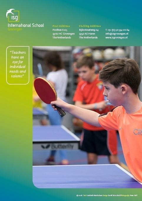 ontwerp achterzijde brochure ISG