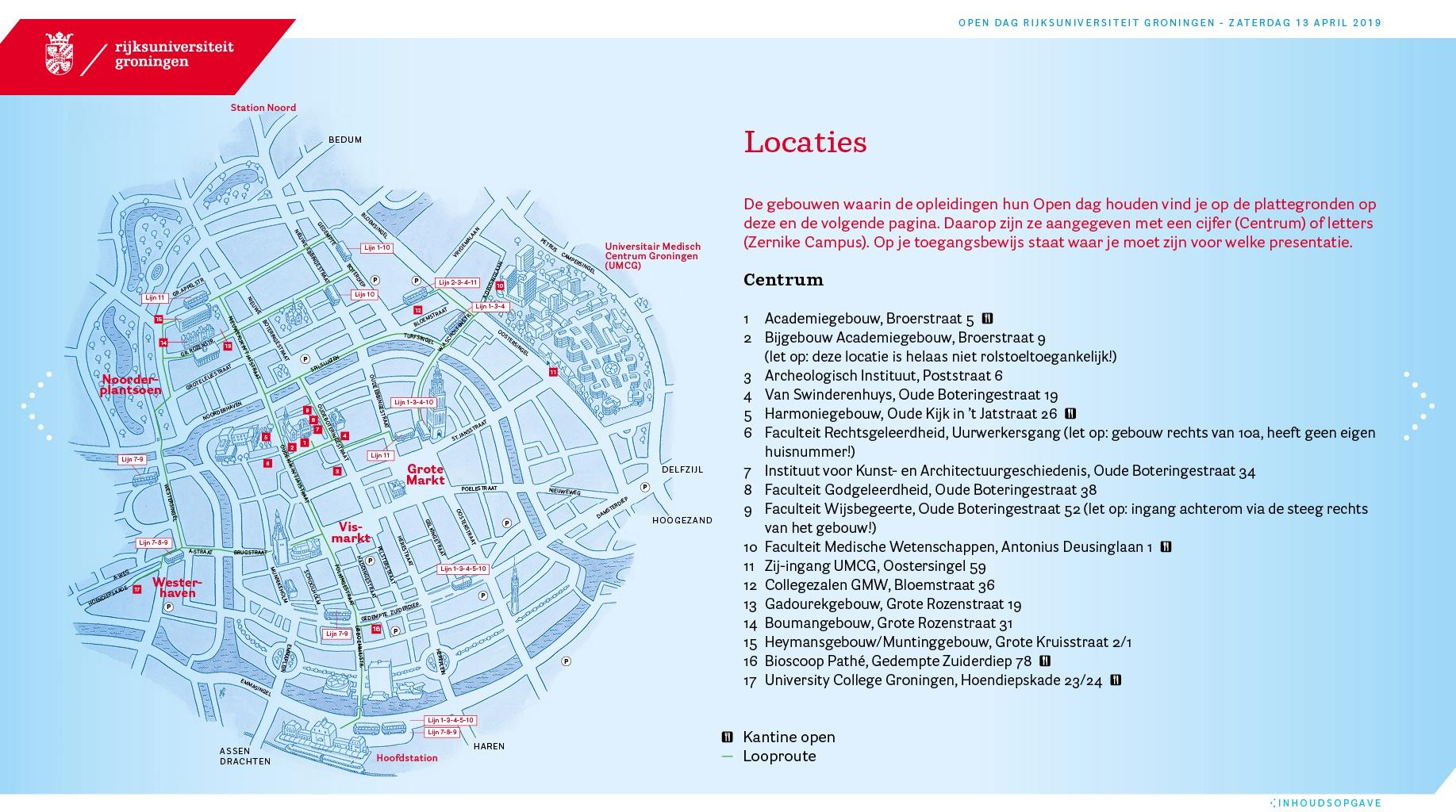 Illustratie plattegrond locaties