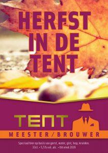 bieretiket herfst in de tent