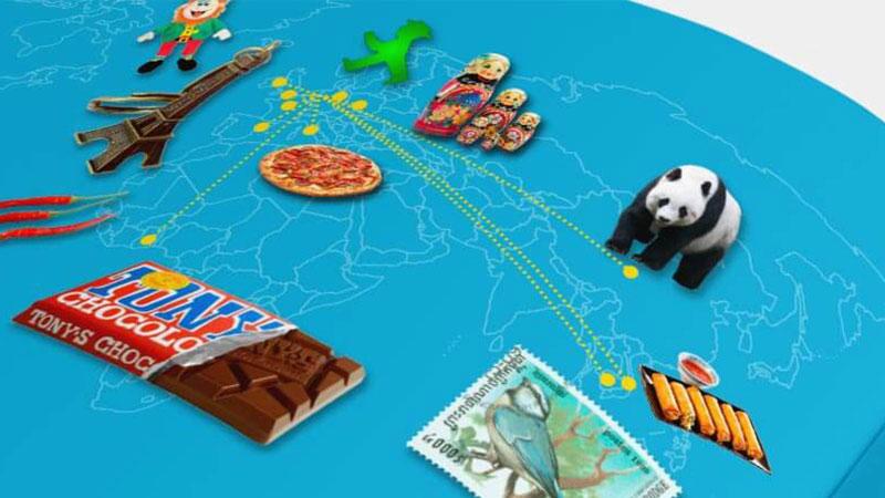 detail ontwerp illustratie wereldkaart