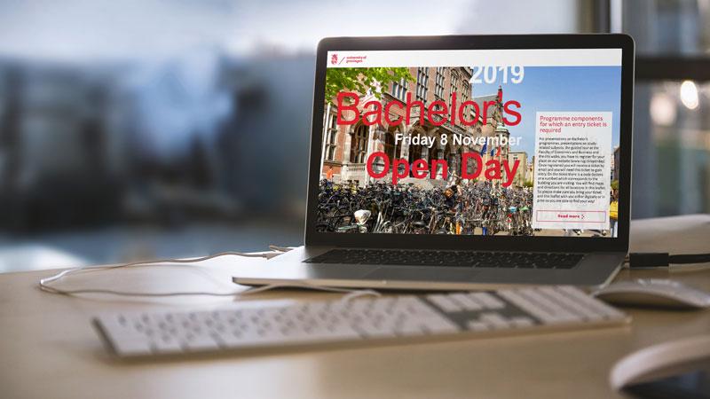 opmaak digitale brochure / magazine voor de Open Dag van de Rijksuniversiteit Groningen