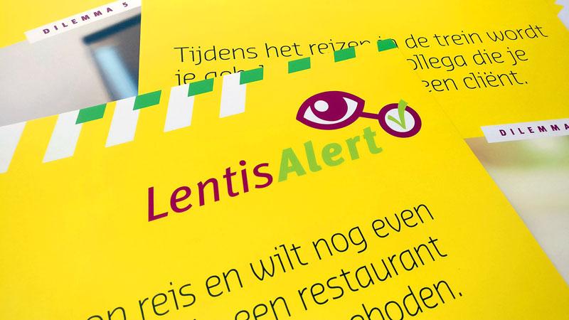 ontwerp campagne logo en posters Lentisalert