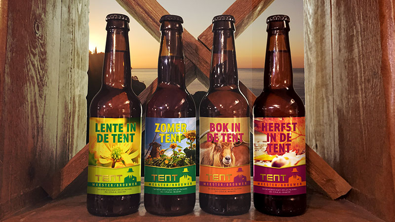 4 bier etiketten tent meester brouwer