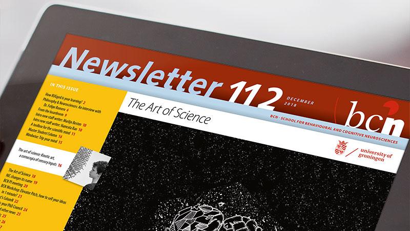 nieuwsbrief ontwerp op ipad