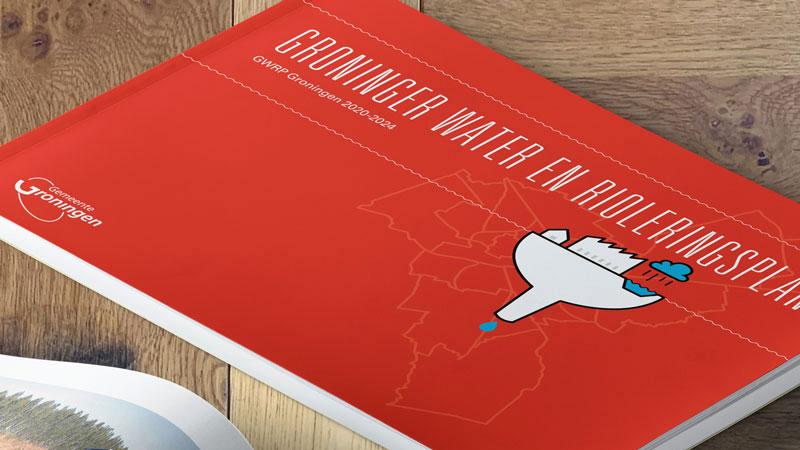 ontwerp omslag rapport groninger water en rioleringsplan gemeente groningen