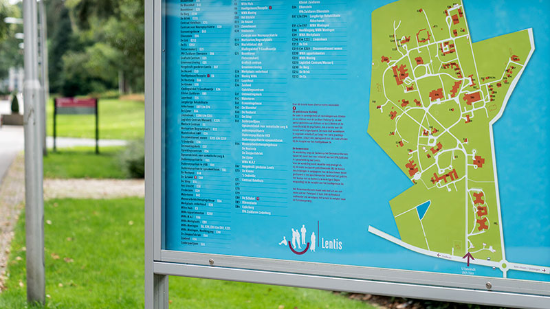 Detail plattegrond ontwerp dennenoordterrein